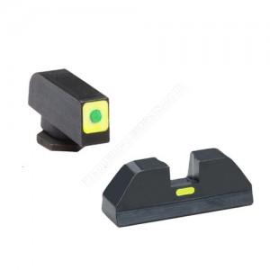 Ameriglo Night Sights For Glock 42/43. Yellow - Gl-638