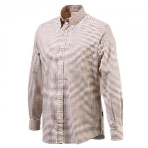 Beretta Classic Bd Drip Dry Shirt. Beige/Red Xl - Lu210t0707011sxl